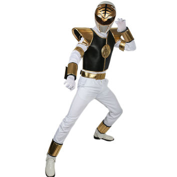 White Ranger Costume Power Rangers Cosplay