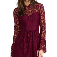 Dolce Vita Pisaro Lace Dress in Wine