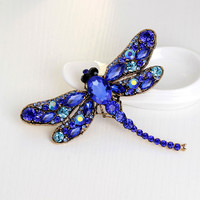 Big Dragonfly Chain Scarves Buckle Brooch