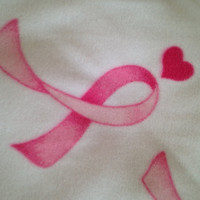 Breast Cancer Awareness Fleece Throw