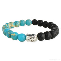 Buddha Oil Diffuser Bracelet Turquoise on Sale for $16.99 at The Hippie Shop
