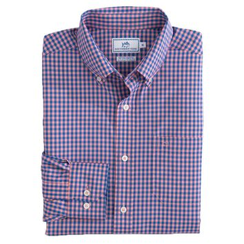 Causeway Gingham Intercoastal Performance Shirt by Southern Tide