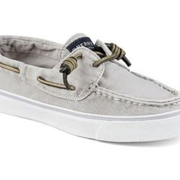 Sperry Top-Sider Womens Bahama Washed Grey Canvas Boat Shoes STS91303