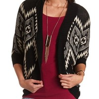 Aztec Open-Front Cocoon Cardigan: Charlotte Russe