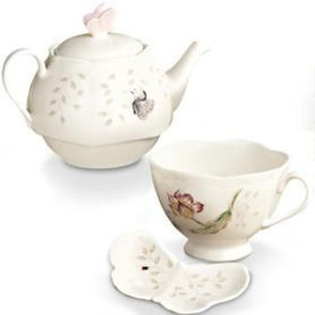 Butterfly Meadow Stackable Tea Set with Bag Holder by Lenox