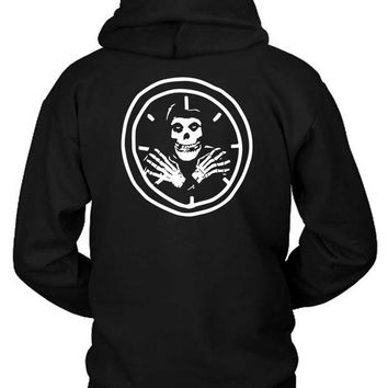 LMF1GW Supreme Skull Watch Black And White Hoodie Two Sided