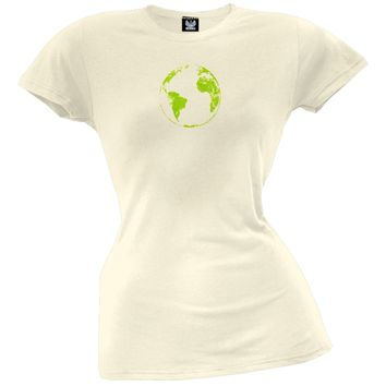 Planet Earth Distressed Juniors T-Shirt