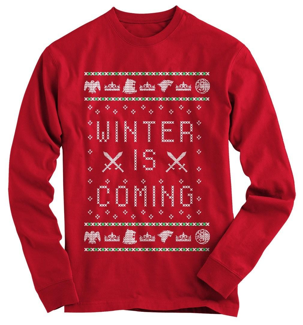 Winter Is Coming Ugly Christmas Sweater from Gnarly Tees