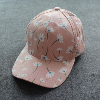 Summer Baseball Caps Women Snapback Caps Floral Outdoor Sun Hats For Girls Fashion Free Shipping