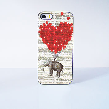 Cute Elephant With Flying Ballon  Plastic Case Cover for Apple iPhone 5s 5 6 Plus 6 4 4s  5c