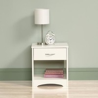 Sauder Beginnings Nightstand, Soft White - Walmart.com