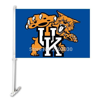 American University Of Kentucky Wildcats Car Flag 100% Polyester Outdoor Banner Flying Size 11 X 15 UK USA College Team Plastic