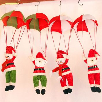 Santa Claus Parachuting Christmas Ornament from SheShopper.com