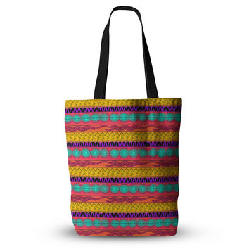 "Famenxt ""Pattern Watercolor Colorful"" Multicolor Pattern Everything Tote Bag"