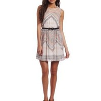 As U Wish Juniors Printed Gauze Dress
