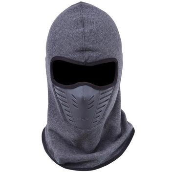 Dust-proof Cycling Face Mask Windproof Winter Warmer Fleece Bike Full Face Scarf Mask Neck Bicycle Snowboard Ski Men M116