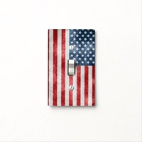 Grunge American USA Flag Light Switch Cover