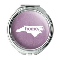 North Carolina NC Home State Compact Purse Mirror - Textured Light Rose