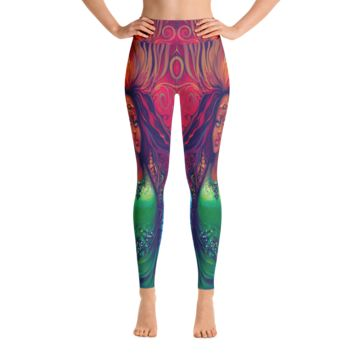 Blue Art Girls Yoga Leggings