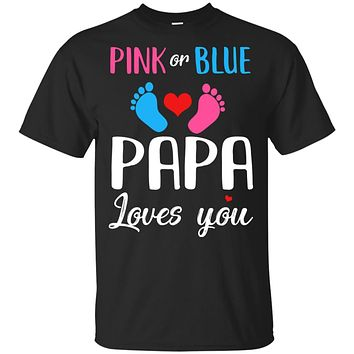 Pink Or Blue Papa Loves You Funny Gender Reveal Party Gift