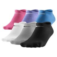 Nike Lightweight No-Show Socks (Medium/6 Pair) (White)