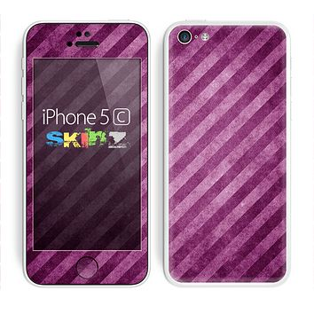 The Vector Grunge Purple Striped Skin for the Apple iPhone 5c