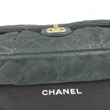 Authentic Chanel Classic Black Calfskin shoulder bag