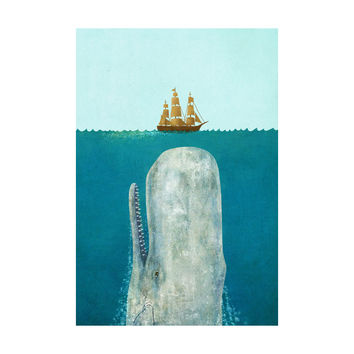 The Whale Adhesive Art Print