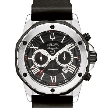 Bulova Men's Marine Star Chronograph Strap Watch 98B127