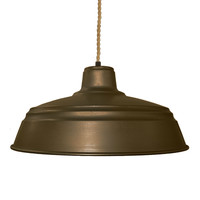 "Barn 14"" Metal Shade Pendant Light- Ship Rope"