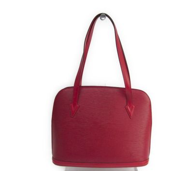Louis Vuitton Epi Lussac M52287 Women's Shoulder Bag Castilian Red BF311286