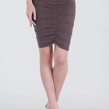 Ruched Front & Back Pencil Skirt #NB6689