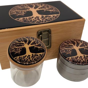 Tree of Life Stash Box Combo - Grinder Combo