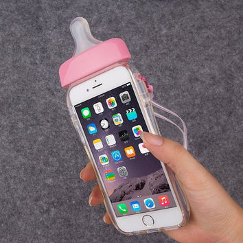 Cute Feeding Bottle Soft Gel Case
