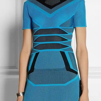 Tandy Too Blue Bandage Mini Dress