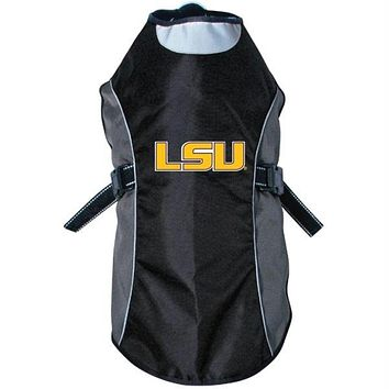 LSU Tigers Water Resistant Reflective Pet Jacket