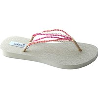 Pink Flip Flop Sandal | Coconut with EVA foot bead | SolEscapes.com