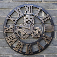 Real 3D vintage decorative  art big wall clock  large on the wall