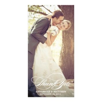SCRIPT OVERLAY | WEDDING THANK YOU PHOTO CARD