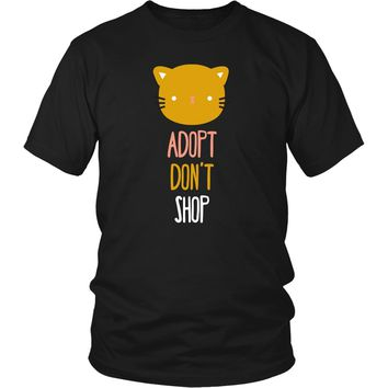 Animal Rescue T Shirt - Adopt don't shop cat