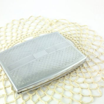 Vintage Cigarette Case /Soviet Metal Cigarette Case - Unique Original Gift Idea,  Father's day Gift Business Card