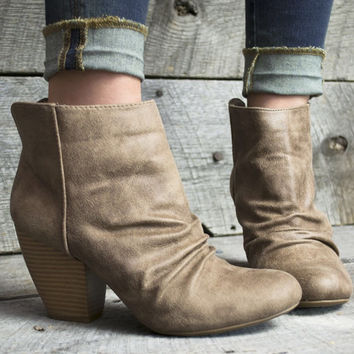 Distressed Diva Ankle Boots