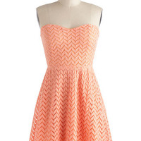 Little Bow Peach Dress | Mod Retro Vintage Dresses | ModCloth.com