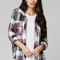 LA Hearts Drapey Tunic Button Down Shirt at PacSun.com
