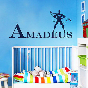 Custom Name Wall Decals Superhero Man Decal Boy Nursery Room Decor Vinyl DA3722