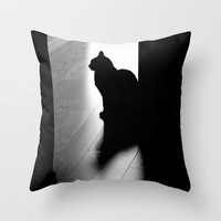 black cat Throw Pillow by Marianna Tankelevich | Society6