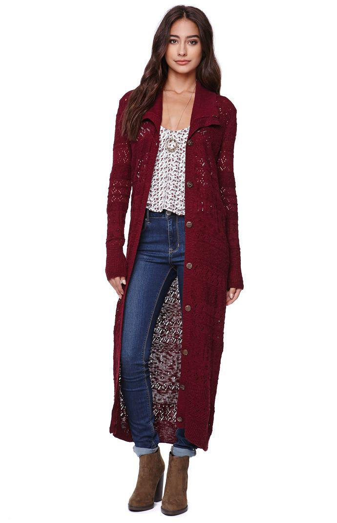 Roxy Pointelle Duster Cardigan - Womens from PacSun | New