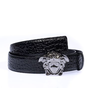 Versace Belt % Leather MADE IN ITALY Man Blacks DCU4140DVSTCO-D41UB