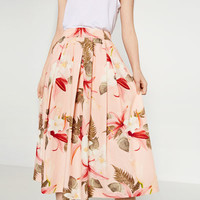 FLORAL PRINT SKIRT - View All-SKIRTS-WOMAN | ZARA United States