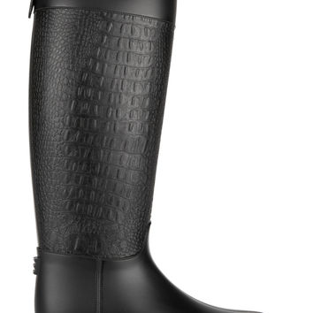 Michael Kors Collection - Miranda croc-effect rubber rain boots